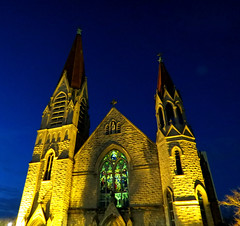 Immaculate Conception Catholic Church Jacksonville FL - night