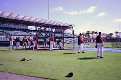Orioles take batting practice