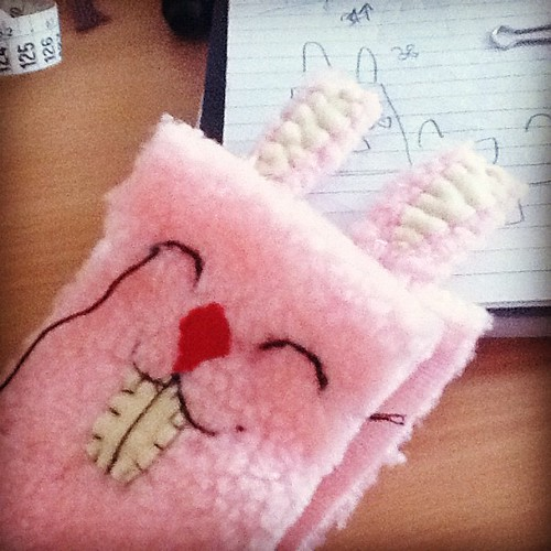 Working progress: iphone rabbit sleeve #cute #crafts
