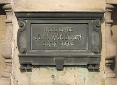 Photo of John Wood the younger bronze plaque