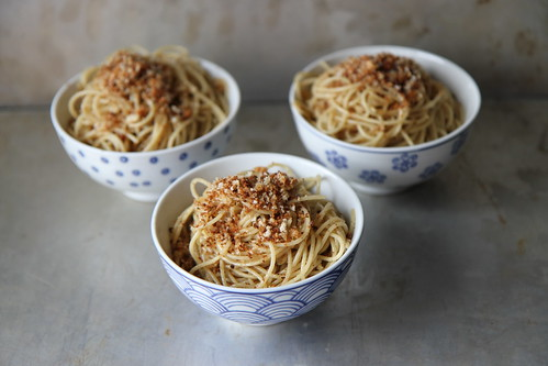 Pasta with brown butter and breadcrumbs
