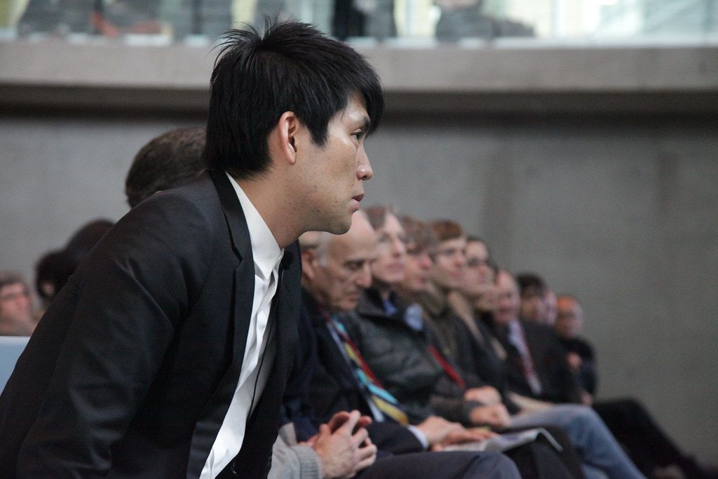 Shohei Shigematsu of OMA during the Making of Milstein Hall presentation of which he was one of the presenters.