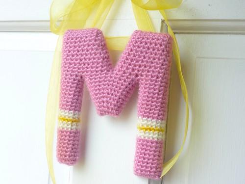 Crochet Wall Letter M