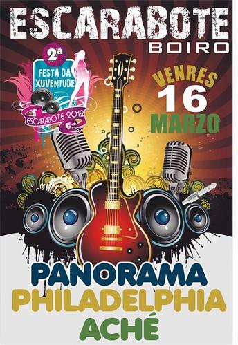 Boiro 2012 - II Festa da Xuventude de Escarabote - cartel