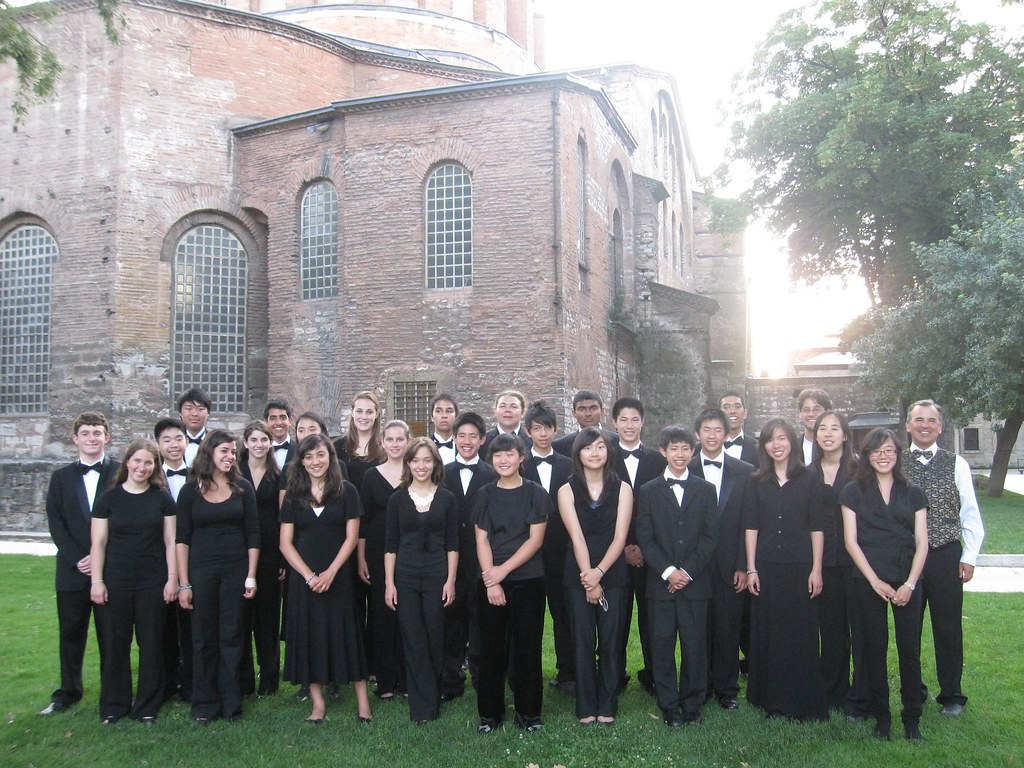 Palo Alto Chamber Orchestra in front of Hagia Irene in Istanbul, Turkey