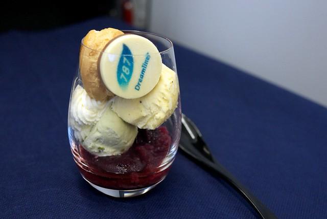 ANA NH204 FRA to HND Business Class Dessert