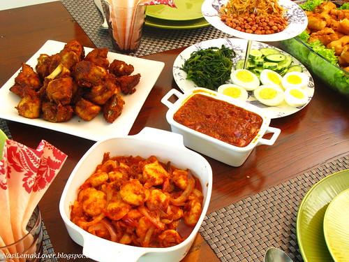 Sweet sambal tumis, a CNY potluck