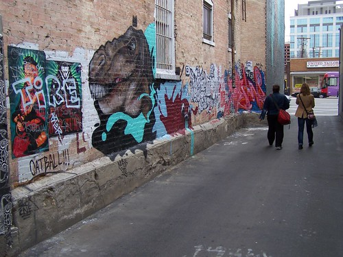 Graffiti alley, Downtown Salt Lake City