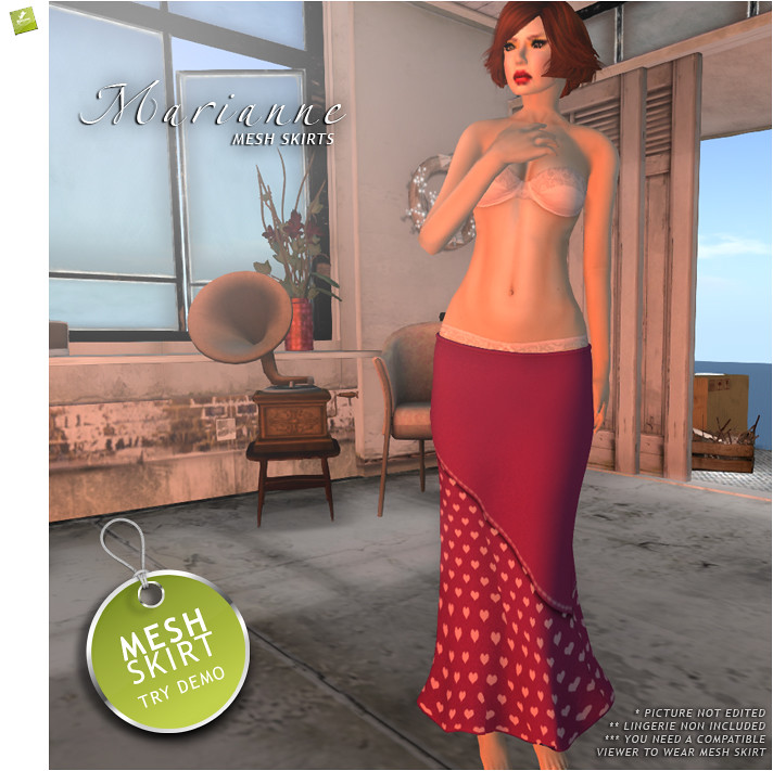 BOUNCE / MARIANNE skirt [MESH] Folly