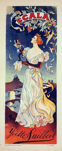 001-Affiche pour le Concert de la Scala, Yvette Guilbert  (1896-1900)-NYPL