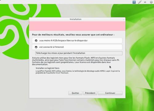 Espace disque nécessaire pour l'installation d'Asturix 4.0
