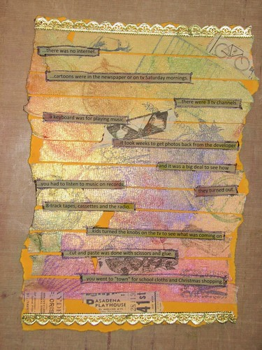 Art Journal #8 - Stamped Masking Tape 013