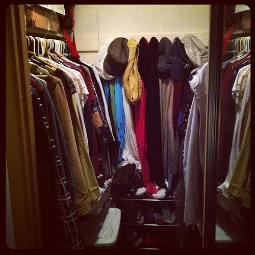 Day 12 #febphotoaday Inside My Closet - a walk in mess