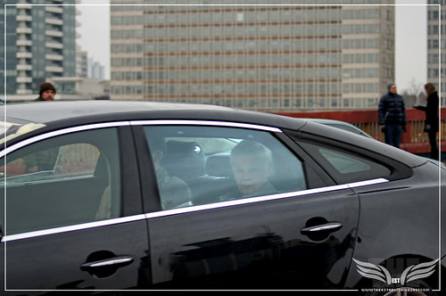 The Establishing Shot: Skyfall Vauxhall Bridge - Dame Judi Dench & Rory Kinnear in M's Jaguar XJL Interior Shots crossing Vauxhall Bridge by Craig Grobler