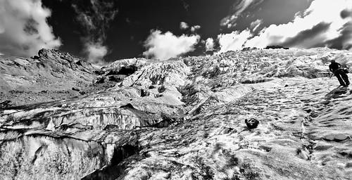 Glacier Hike vista (B&W)