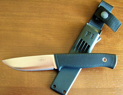 "Fallkniven F1 Swedish Pilot Survival Knife 3.8"" Satin VG10 Blade, Zytel Sheath"