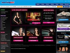 Sportingbet Live Casino Lobby