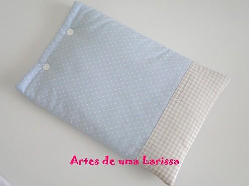 Bolsa Térmica Azul e Bege by Artes de uma Larissa