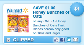 Honey Bunches Of Oats Cereal Coupon