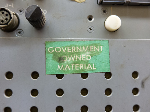 Govt. Owned Material