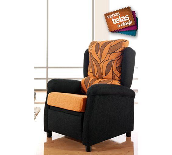 Butaca relax tapizada en tela varios colores a un precio for Butacas descanso
