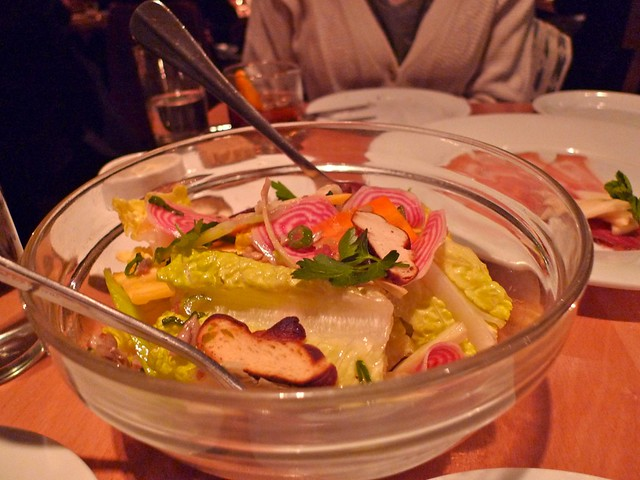 Maybe one of the best salads I've ever had: candy cane beets, carrots, pretzel croutons at Gruner in Portland.
