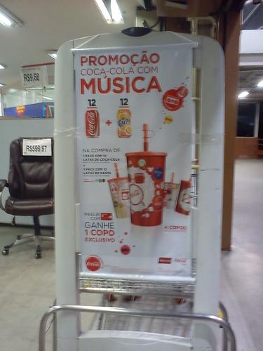 Promoção Coca-Cola com música