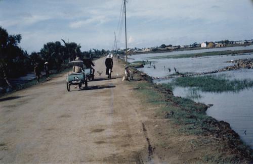 Vietnamese riverside street scene.
