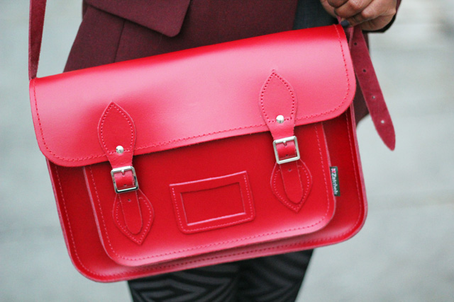 red satchel by zatchels