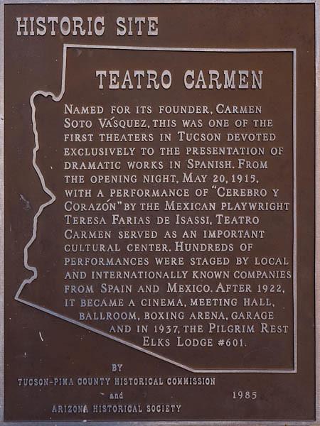 Teatro Carmen - Historic Sign