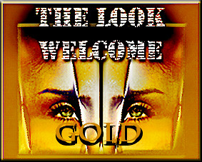 welcome gold look