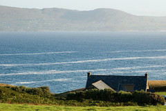 Dunmanus House with the bay beyond