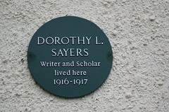 Photo of Dorothy L. Sayers black plaque