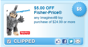 Fisher-Price Imaginext Toy Purchase Of $24.99 Coupon