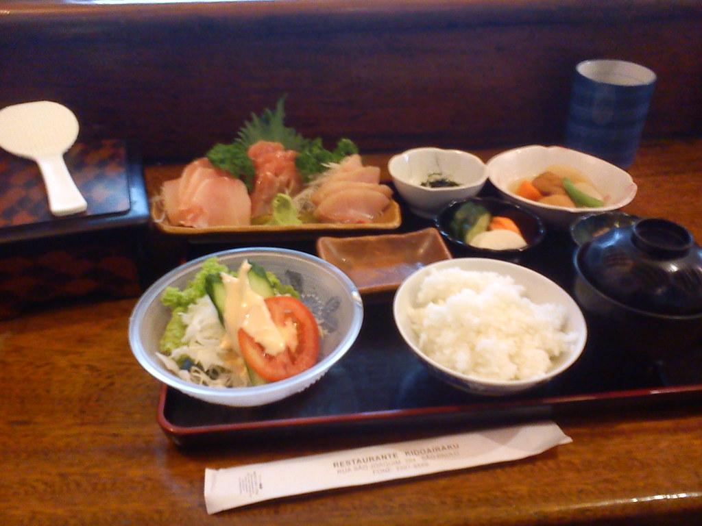 Sashimi teishoku