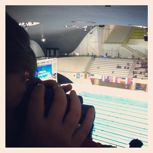 At the London Prepares diving competition, which is testing out the Aquatics Centre for the Summer Olympics. by MAStapleton