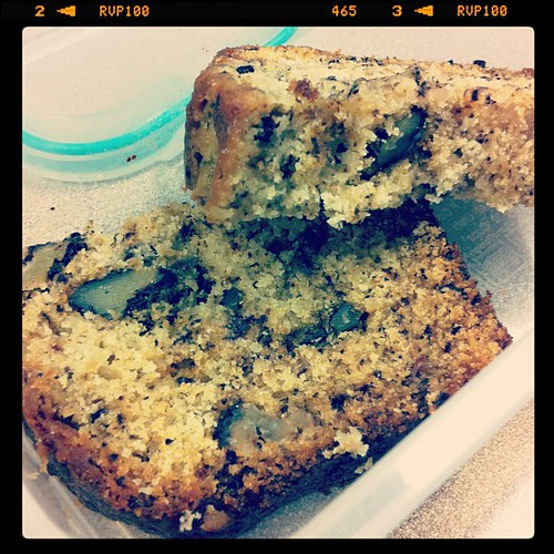 3:30 pm. Snack time, home made banana bread.