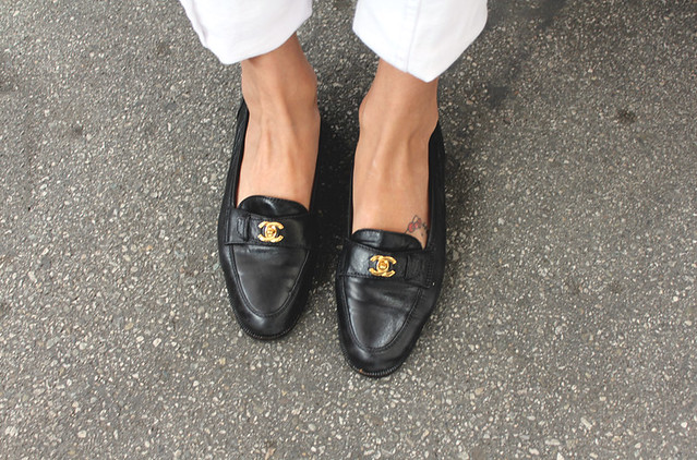 Chanel vintage loafers