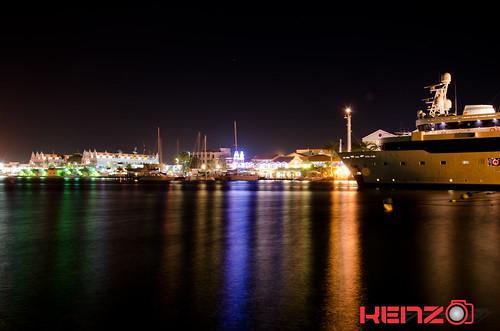 night marina reflections boats photography long nightscape aruba yachts seaport neons exposures