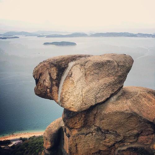王子が岳から瀬戸内海を見下ろすのよ。