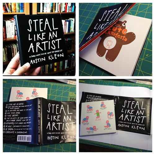 "Fun fact: the original ""dummy book"" for Steal was James Kochalka's CUTE MANIFESTO with a book cover on it."