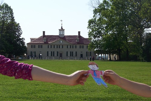 Flat Stanley at Mt. Vernon