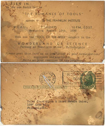 """The Romance of Tools"", found postcard"