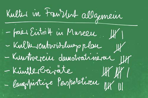 Einige Änderungswünsche für die Frankfurter Kultur