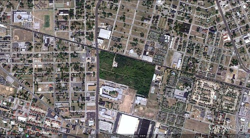 site of Pruitt-Igoe public housing (via Google Earth)