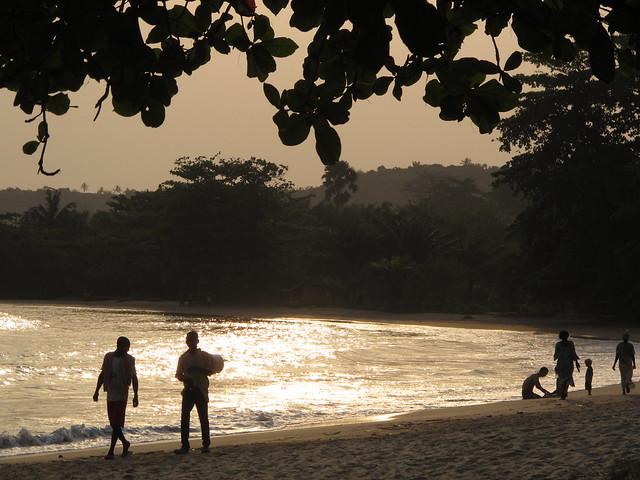 Ezile Bay Beach Sea Ocean Akwidaa Ghana West Africa