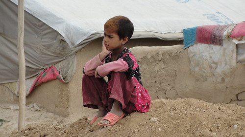 Girl from Helmand in IDP camp in Kabul. By: Kim OConnor