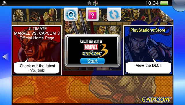 PS Vita Marvel vs Capcom LiveArea