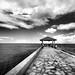 Pier Walk at Waikiki Beach by ` Toshio '
