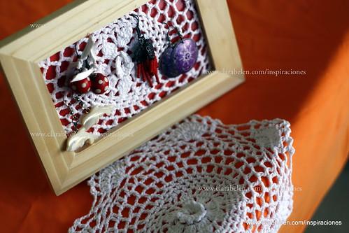 Enmarcar crochet para odenear y organizar pendientes y aretes